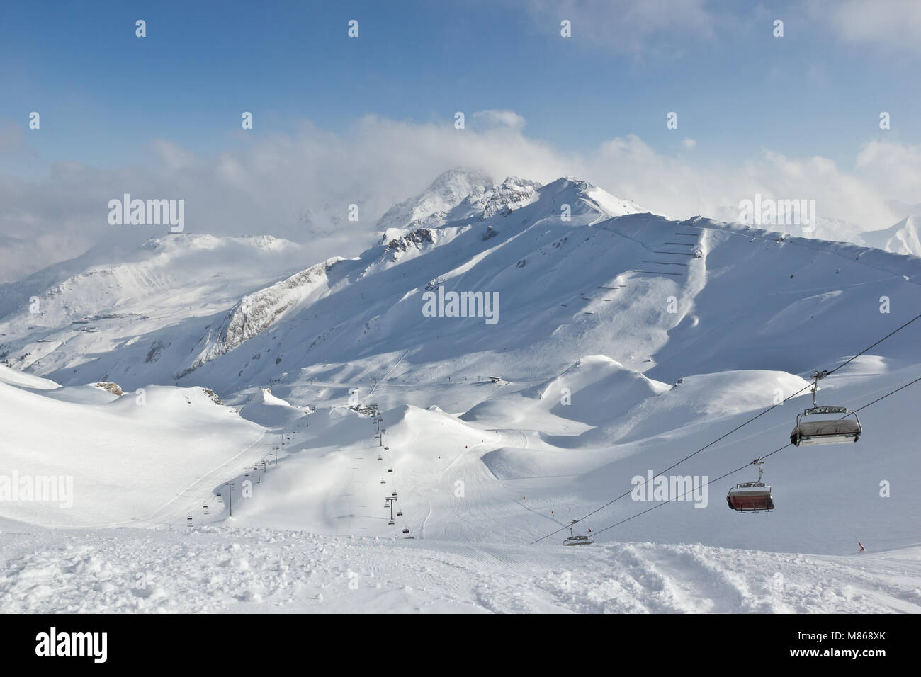 Perfect day in the Austrian Alps, Austria - Stock Image