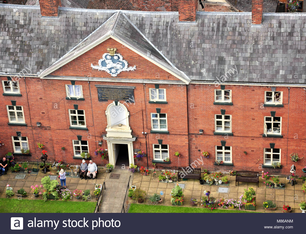 The Hoysers Almshouses College Street Ludlow Shropshire - Stock Image