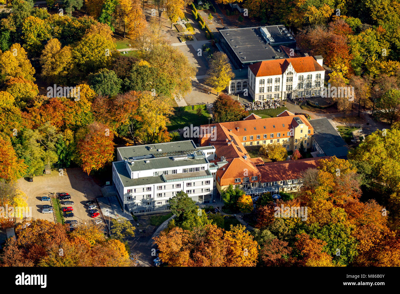 Hamm, manual therapy, Hamm, Ruhrgebiet, North Rhine-Westphalia, Germany, Europe, birds-eyes view, aerial view, aerial - Stock Image