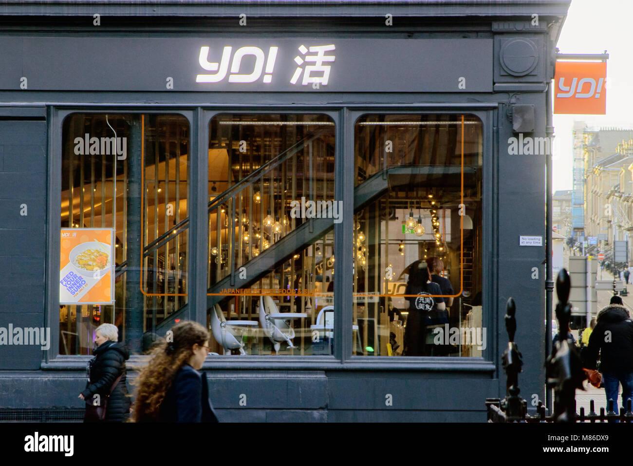 YO! Sushi, West George Street, Glasgow, Scotland - Stock Image