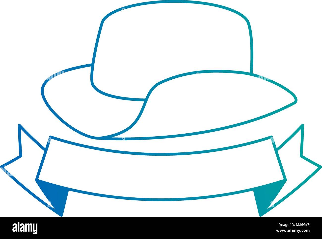 cowboy hat isolated icon - stock vector