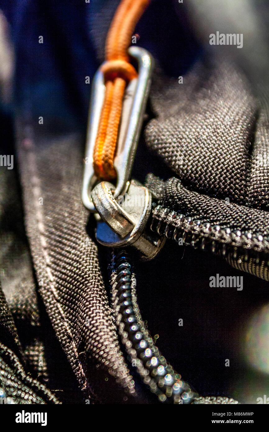 contemporary close up zipper - Stock Image