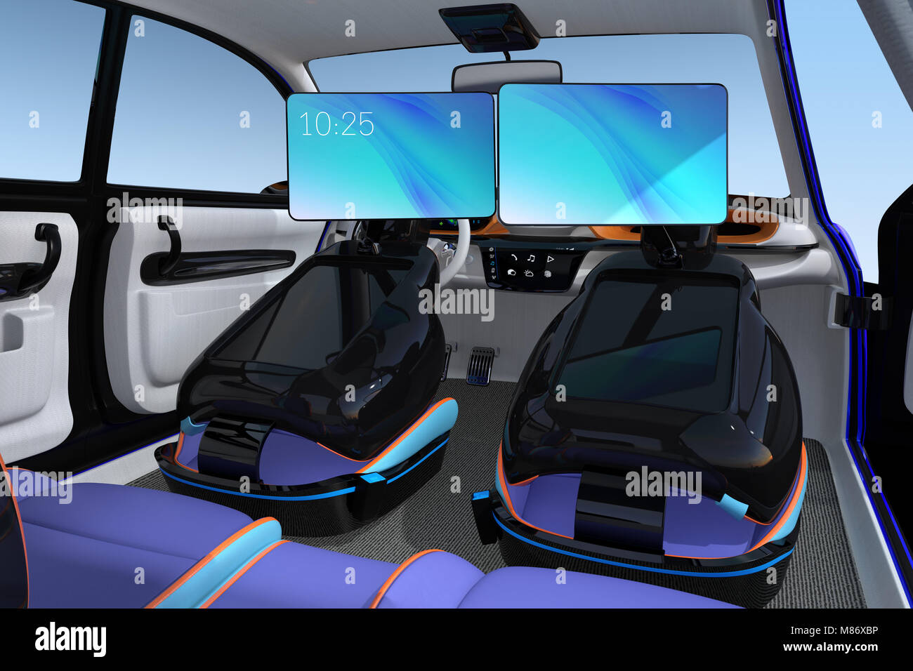 self driving car interior concept front stock photos self driving car interior concept front. Black Bedroom Furniture Sets. Home Design Ideas