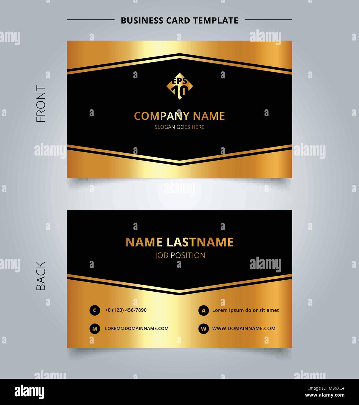 Creative business card and name card template luxury geometric Stock ...