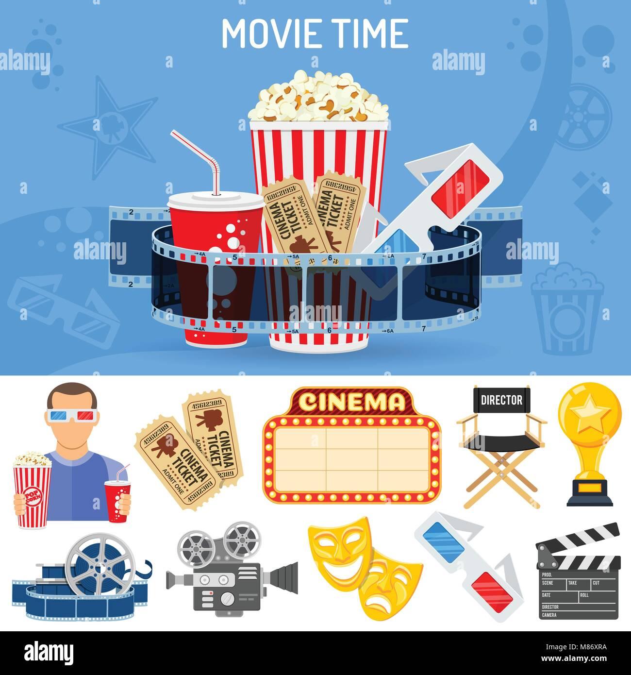 Cinema and Movie Concept - Stock Image