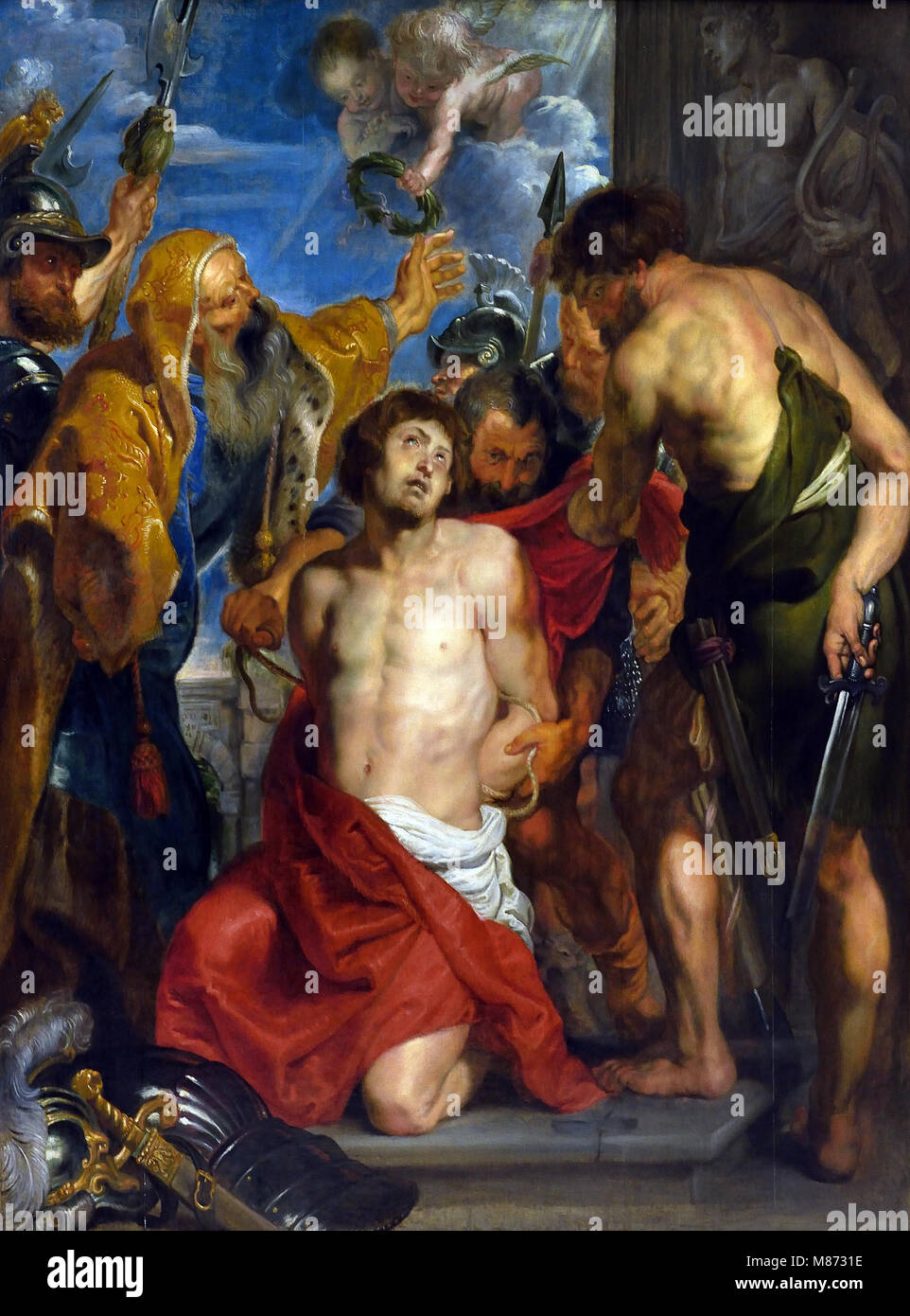 The Martyrdom of St Georges by Peter Paul Rubens (1577–1640) Flemish Belgian Belgium - Stock Image