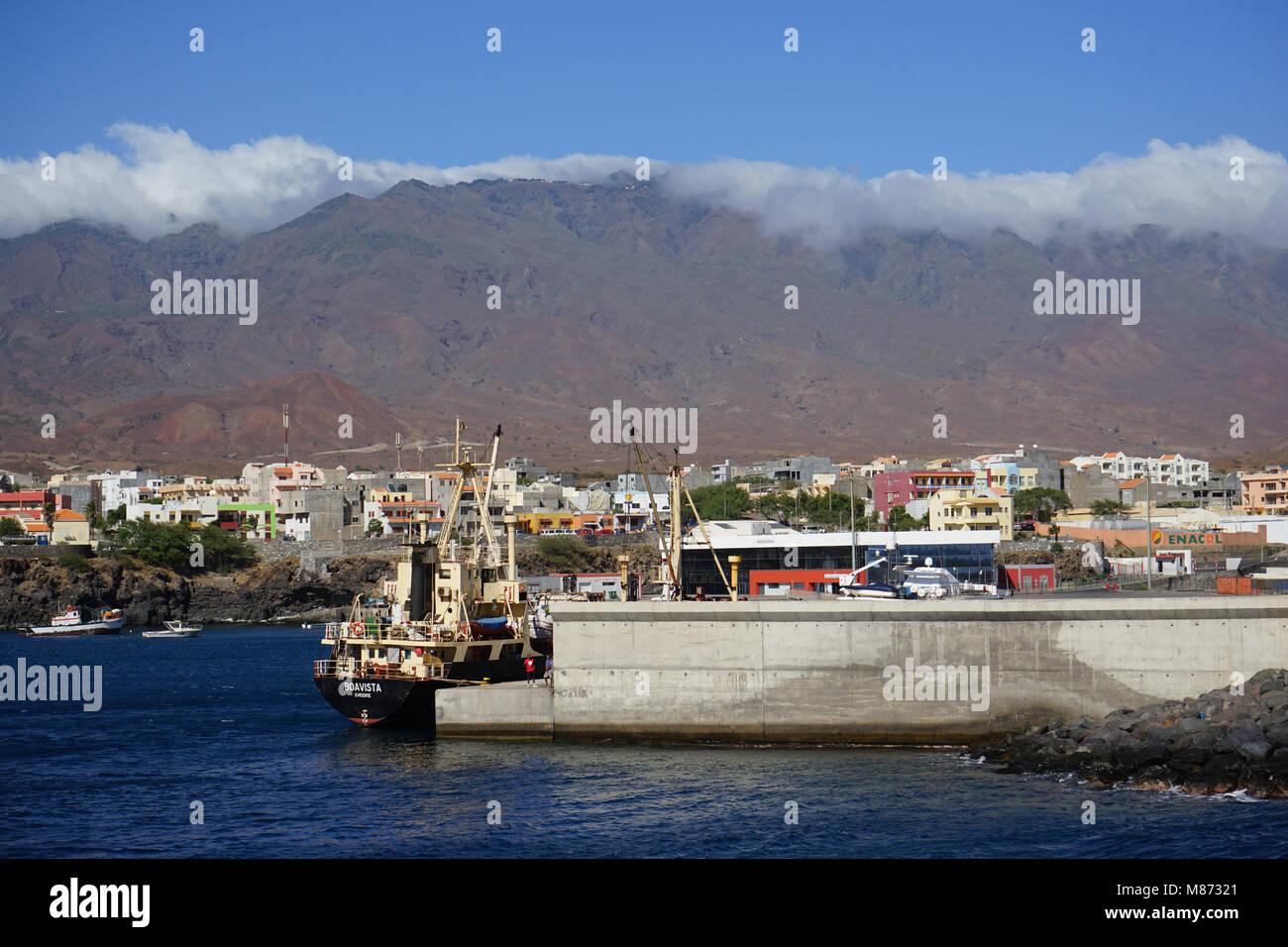 Port of Porto Novo, Santo Antao Island, Cape Verde - Stock Image