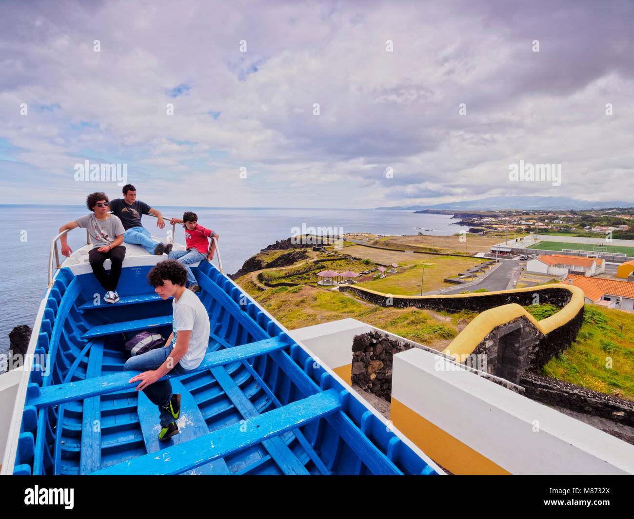 Miradouro do Navio, view point, Capelas, Sao Miguel Island, Azores, Portugal Stock Photo