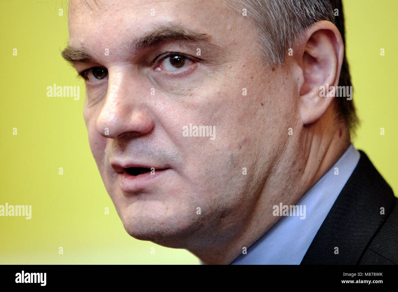 Warsaw, Masovia / Poland - 2008/08/13: Waldemar Pawlak, Deputy Prime Minister of Poland and leader of Polish Peasants' - Stock Image