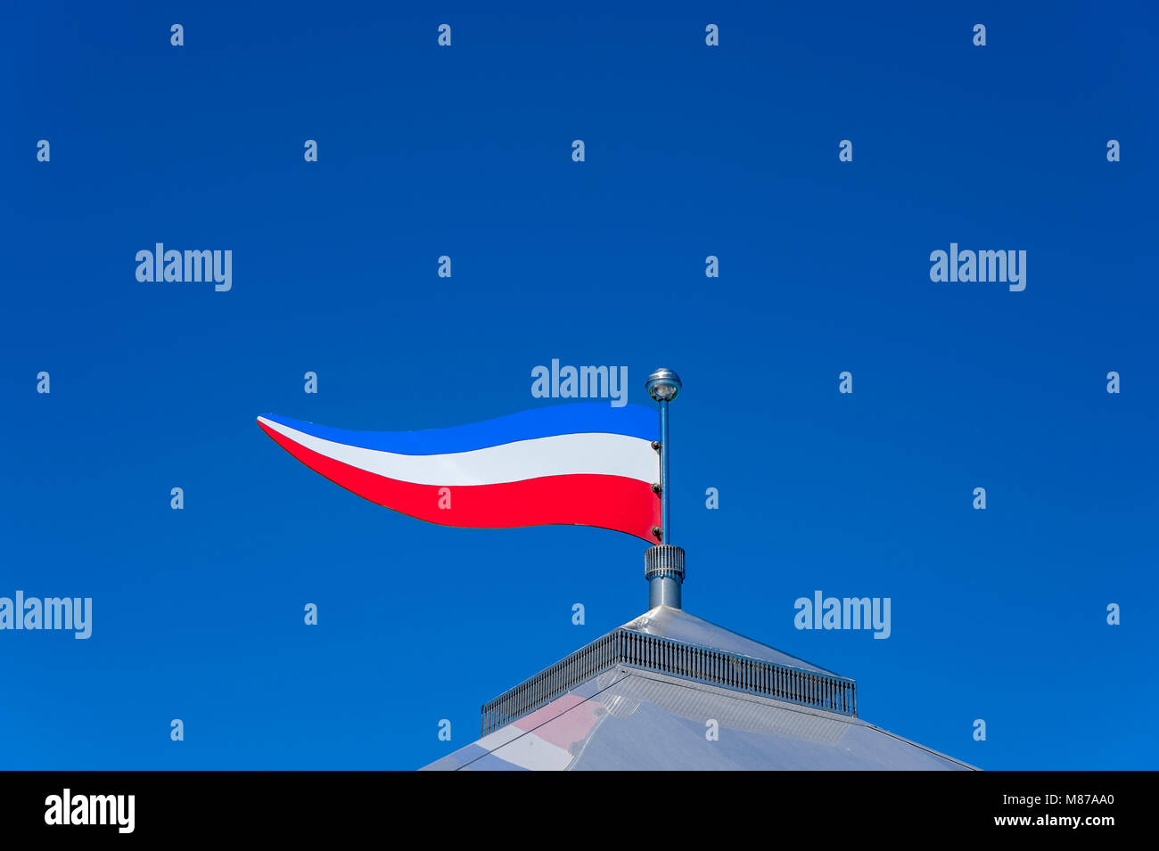Pennant at the pier, Groemitz, Baltic Sea, Schleswig-Holstein, Germany, Europe - Stock Image