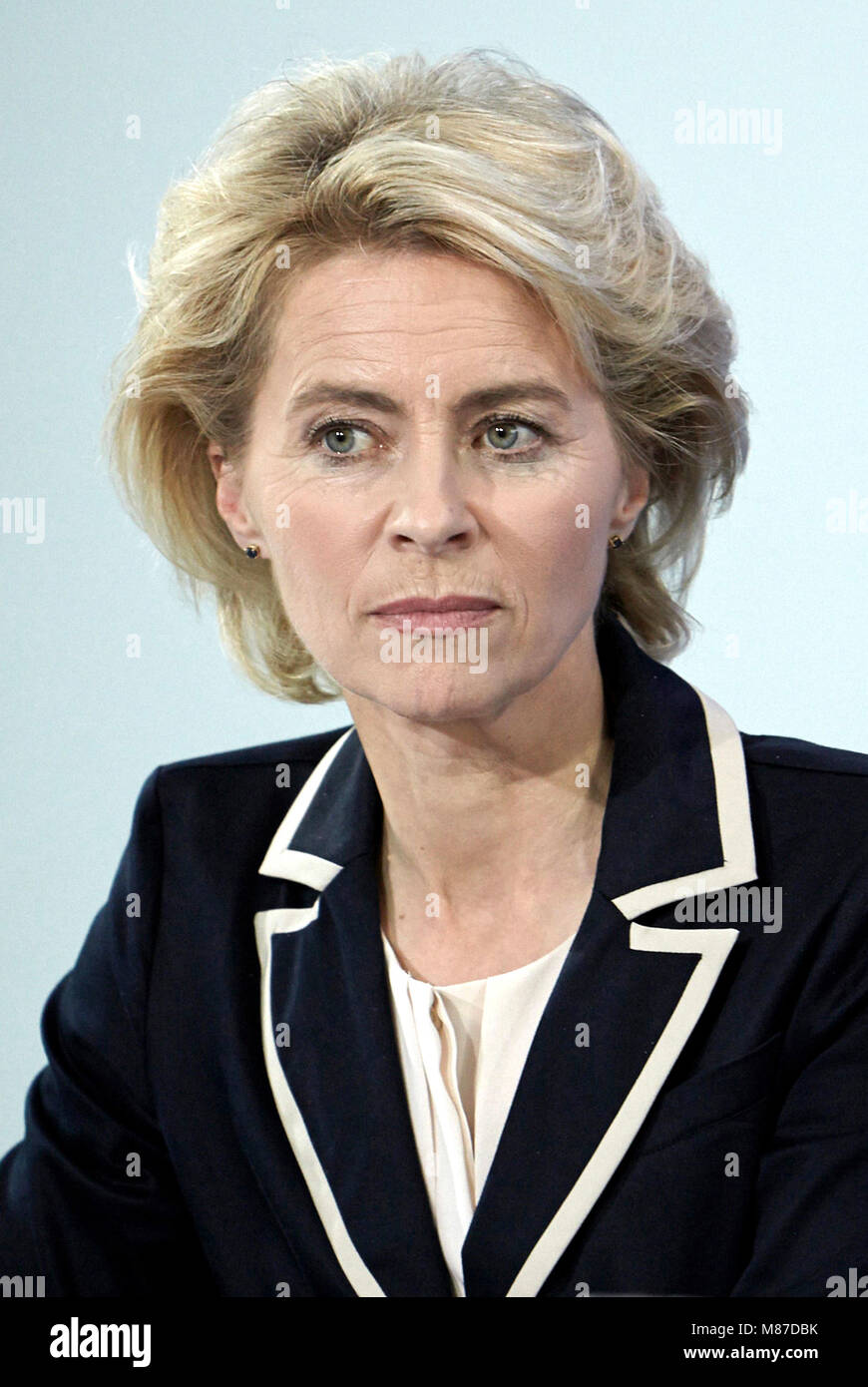 Ursula von der Leyen - 08.10.1958: German politician of the CDU and the Federal Minister of Defence since December - Stock Image