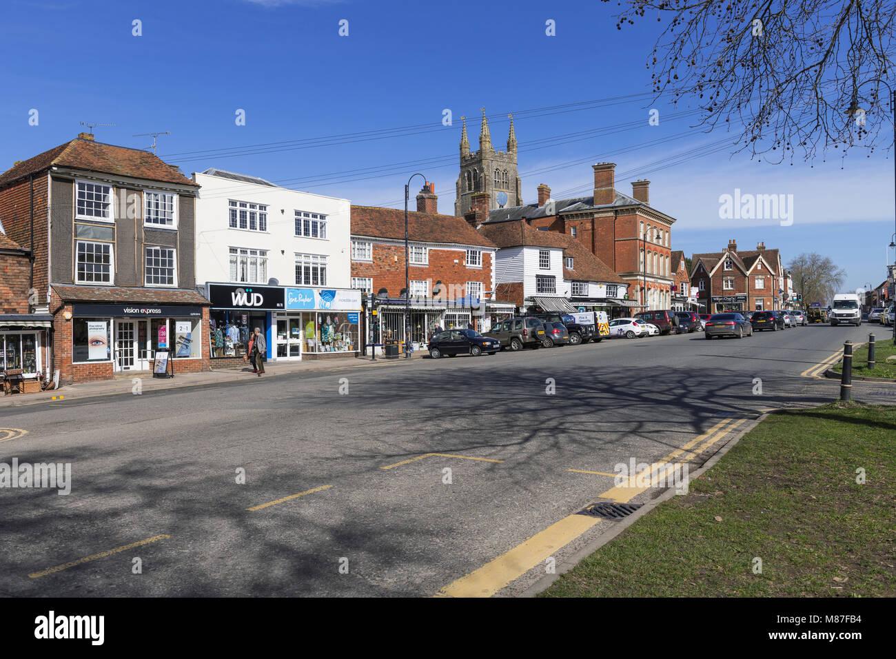 View of the high street, Tenterden Kent - Stock Image