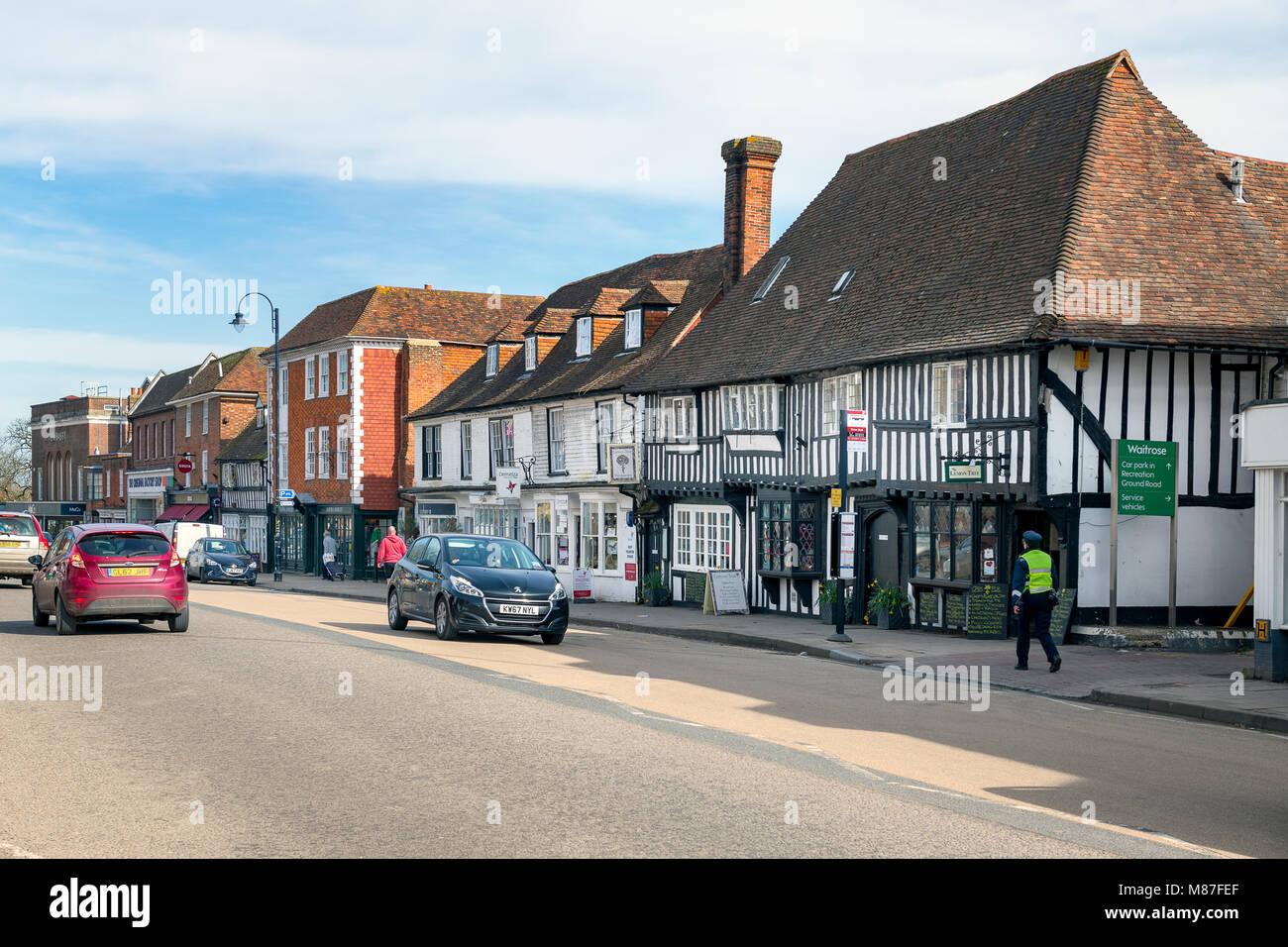 View along the high street, Tenterden Kent - Stock Image