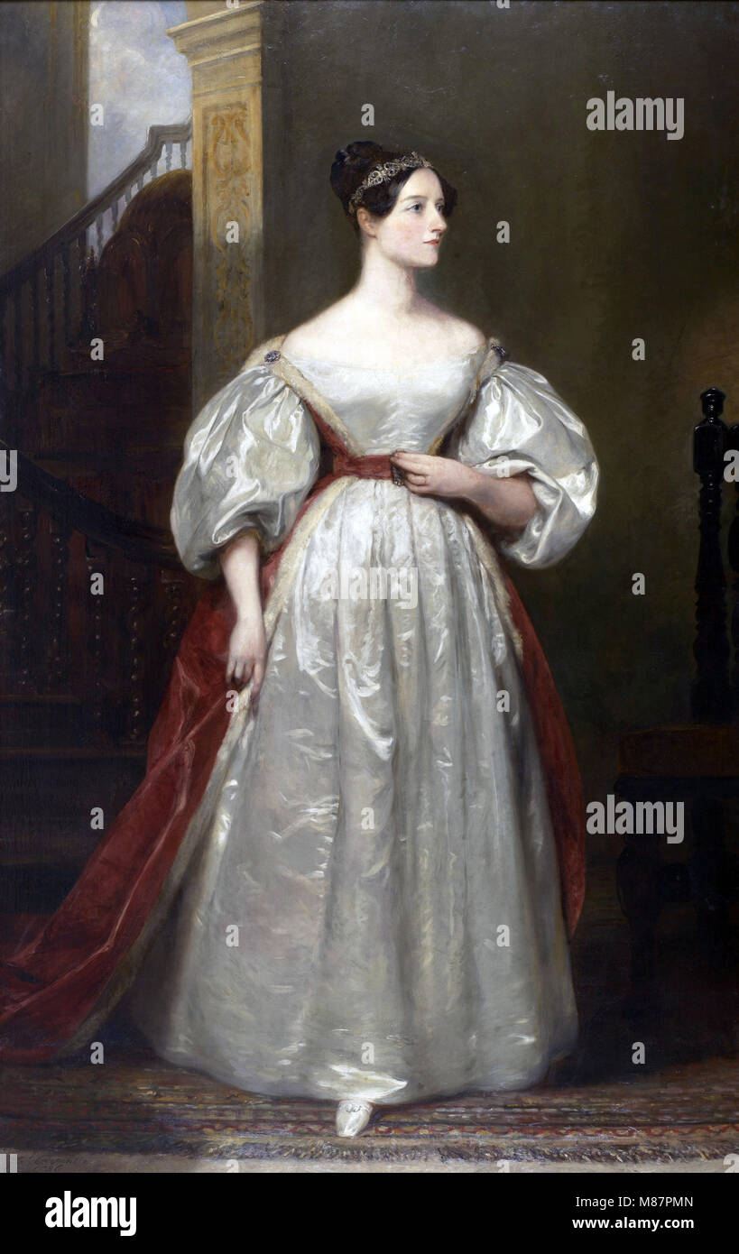 ADA LOVELACE (1815-1852) English mathematician and writer painted by Margaret Carpenter in 1836 - Stock Image