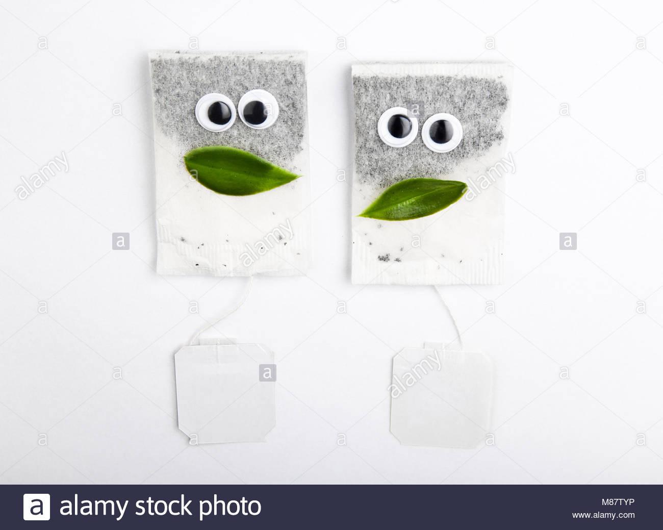 White Tea pocket face Stock Photo