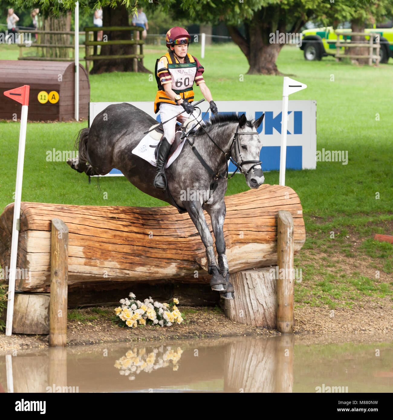 HOUGHTON, NORFOLK/ENGLAND - May 27th 2017: Houghton International Horse Trials 2017 Annie Bellamy riding Grafik - Stock Image