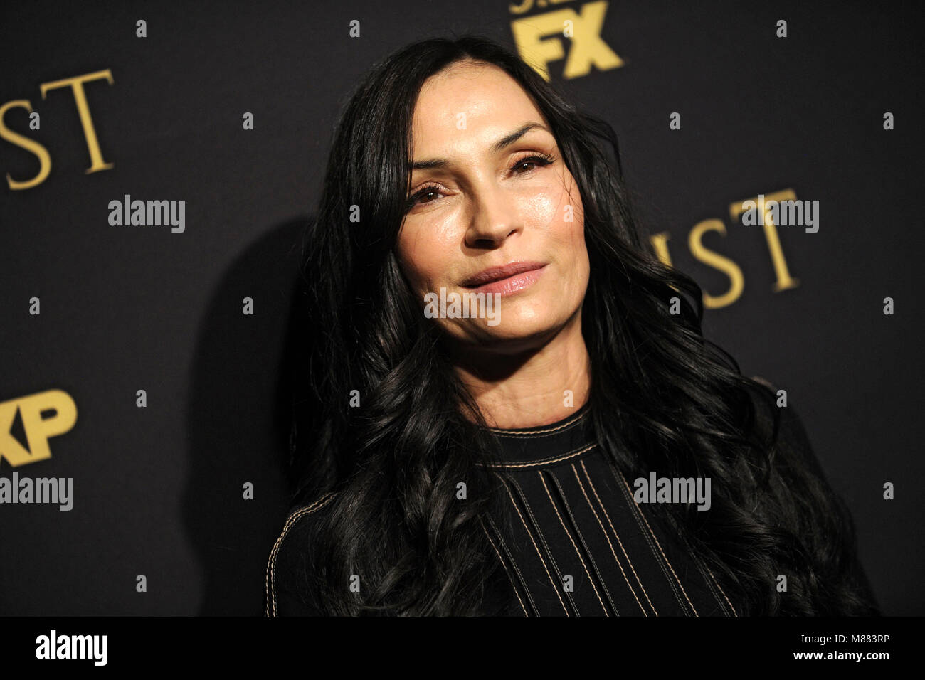 Famke Janssen attending the FX Networks' 'Trust' New York Screening at Florence Gould Hall on March - Stock Image