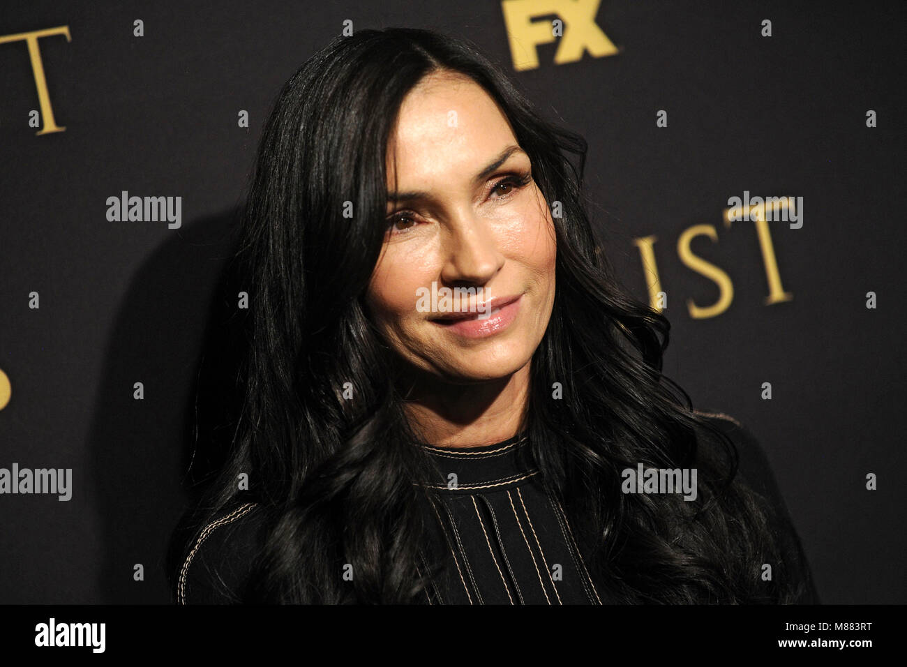 Famke Janssen attending the FX Networks' 'Trust' New York Screening at Florence Gould Hall on March 14, 2018 in Stock Photo