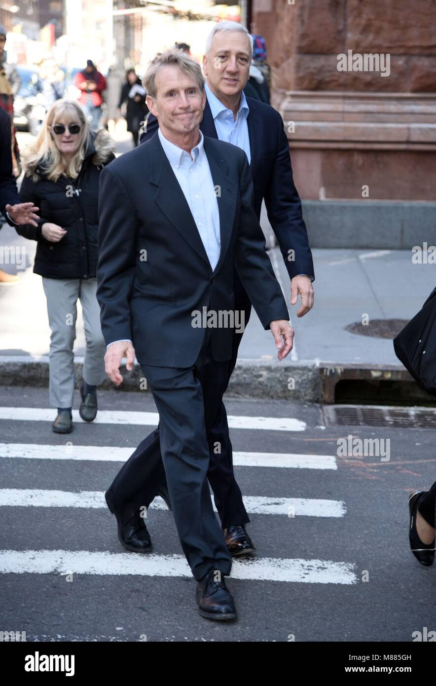 New York, NY, USA. 15th Mar, 2018. Jerry Linenger, Michael Massimino, seen at BUILD Series to promote ONE STRANGE - Stock Image