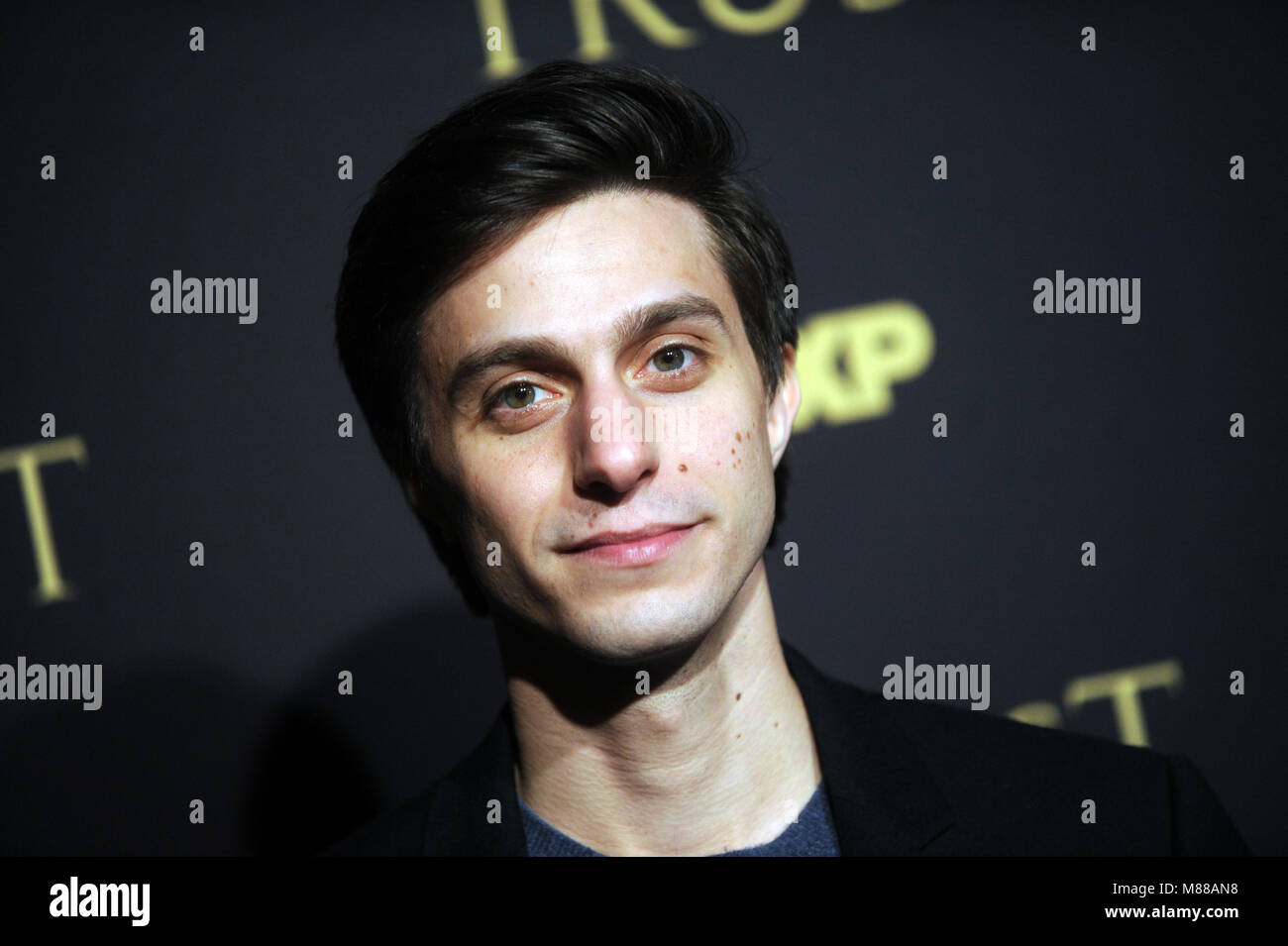 NEW YORK, NY - MARCH 14 :Gideon Glick attends the FX Networks' 'Trust' New York Screening at Florence - Stock Image