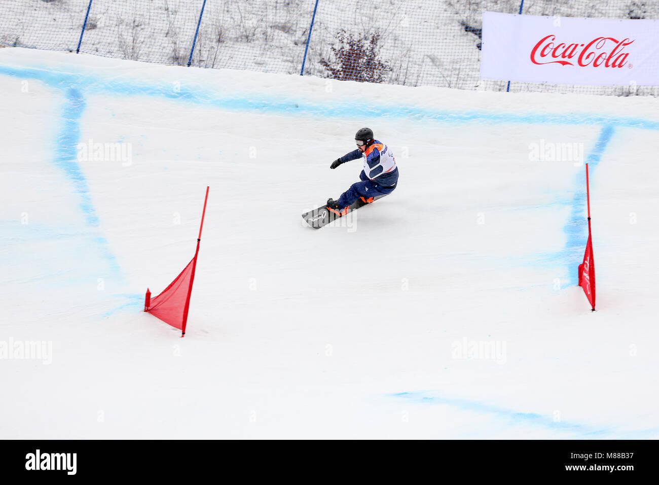 PyeongChang, South Korea. 16th March, 2018. Para Snowboard. Team GB ...
