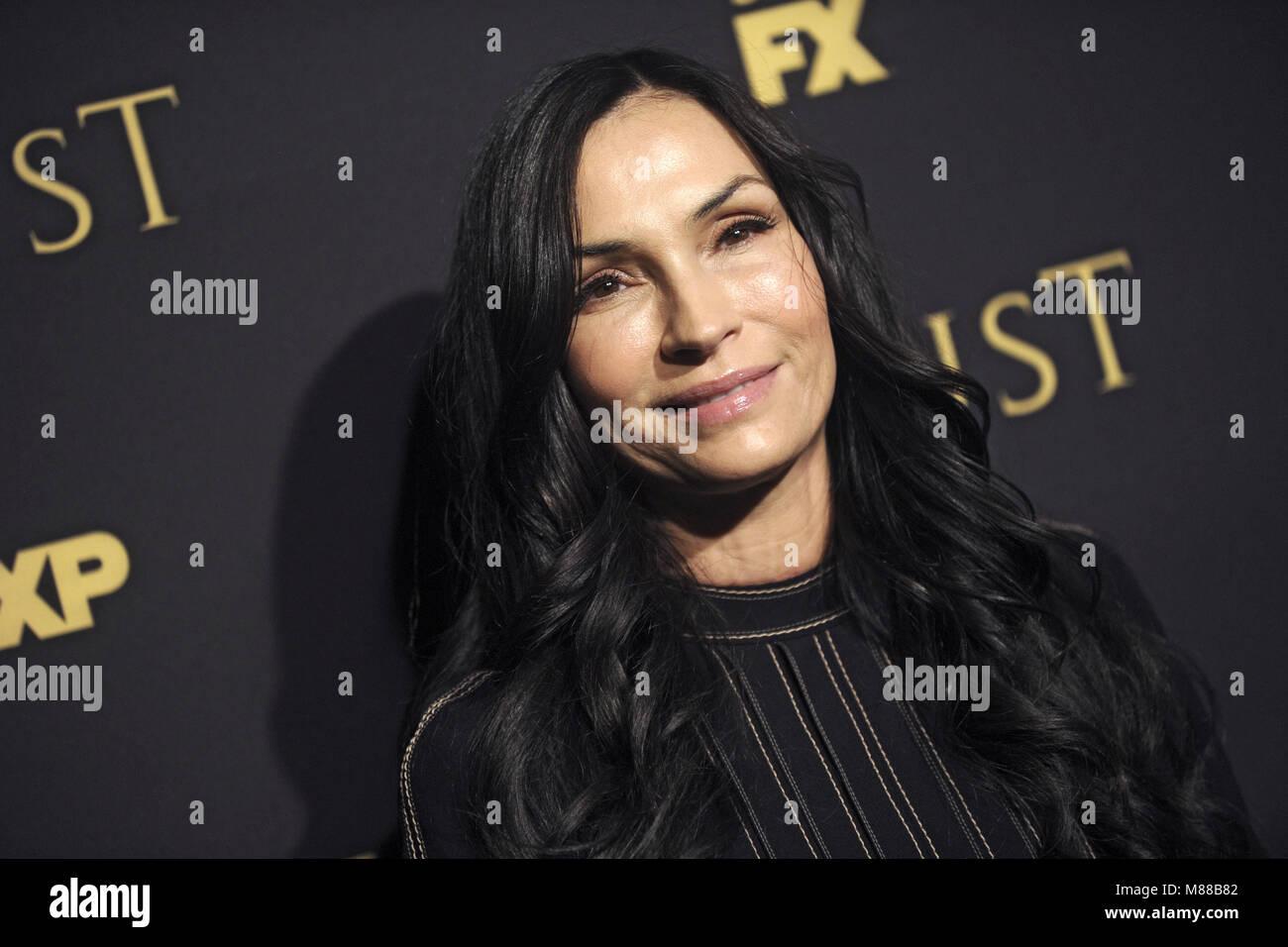 New York City. 14th Mar, 2018. Famke Janssen attending the FX Networks' 'Trust' New York Screening at - Stock Image