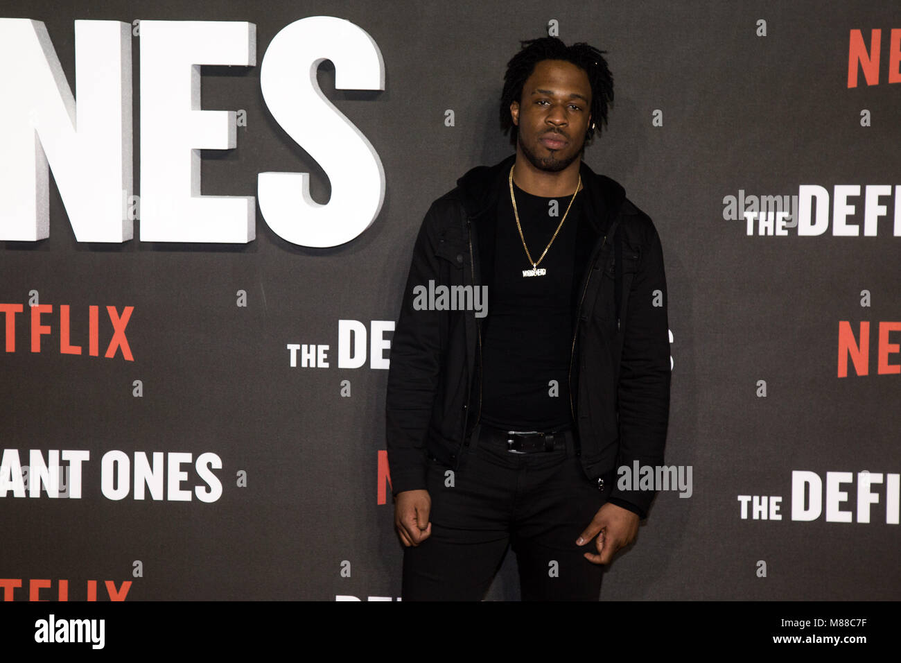 Avelino arrives at The Premiere of Netflix's The Defiant Ones at Ritzy Picturehouse, Brixton. London - 15 March - Stock Image