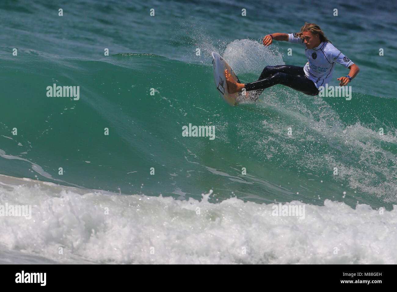 Australia, Sydney. 02nd, Mar 2016.  Lliam Mortensen from Australia surfing during a qualification session, day three, - Stock Image