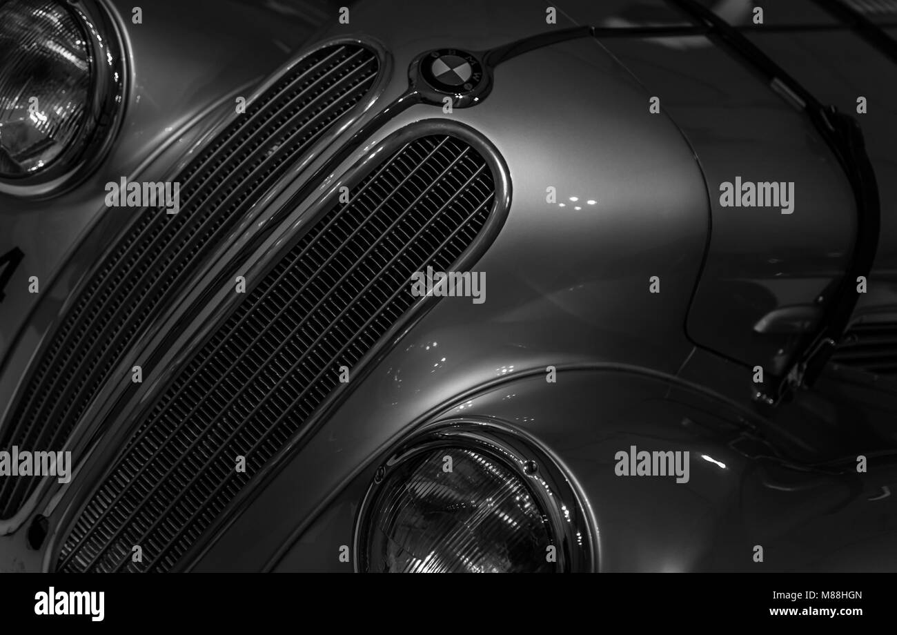 BMW Classic in black and white - Stock Image