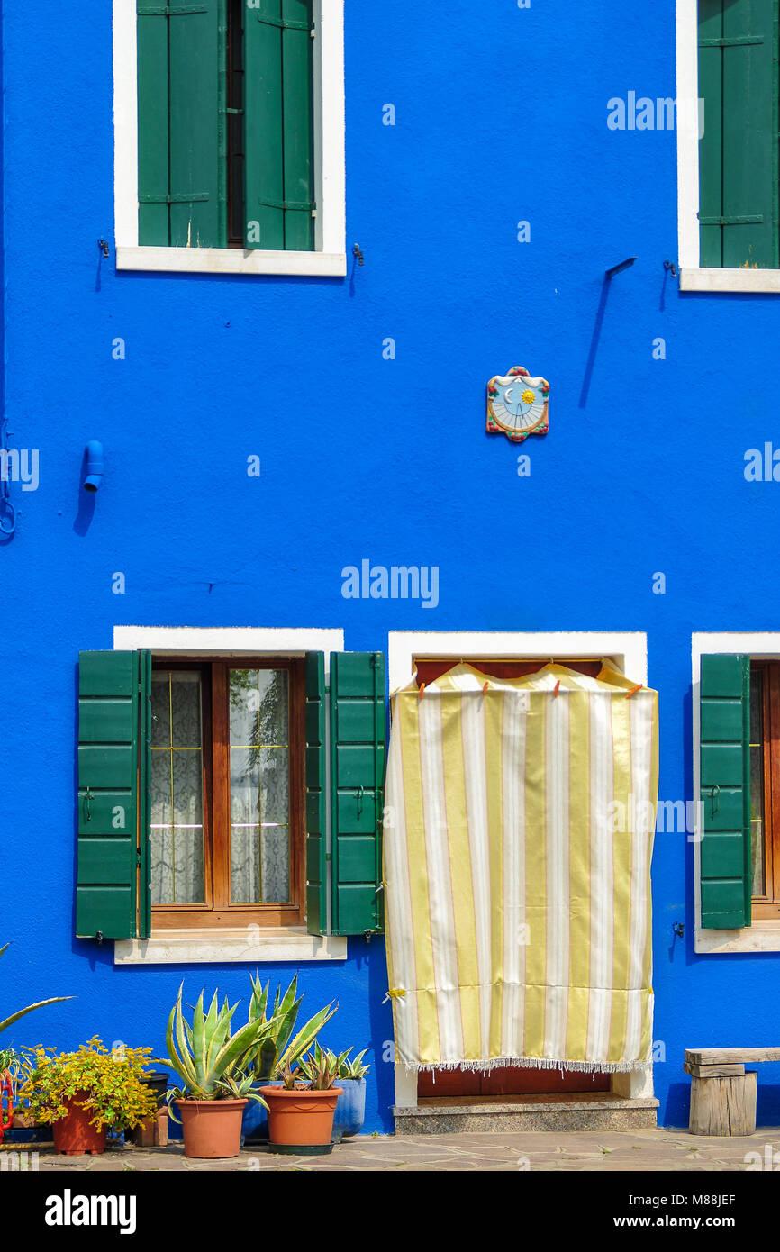 Die Bunten Häuser von Burano - Stock Image