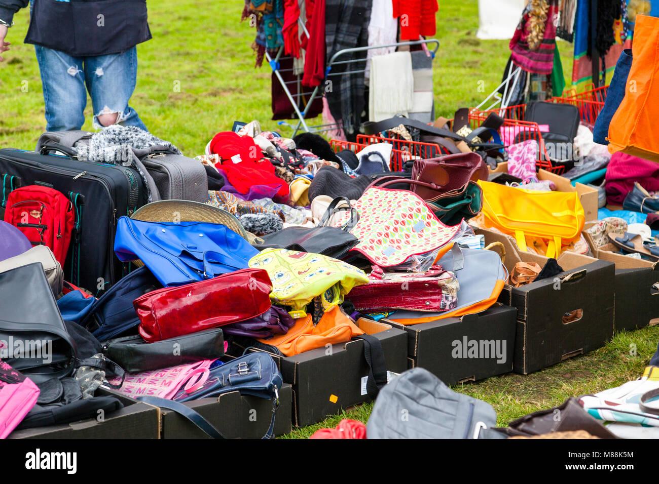 jumble sale, village of hamstreet, ashford, kent, uk - Stock Image
