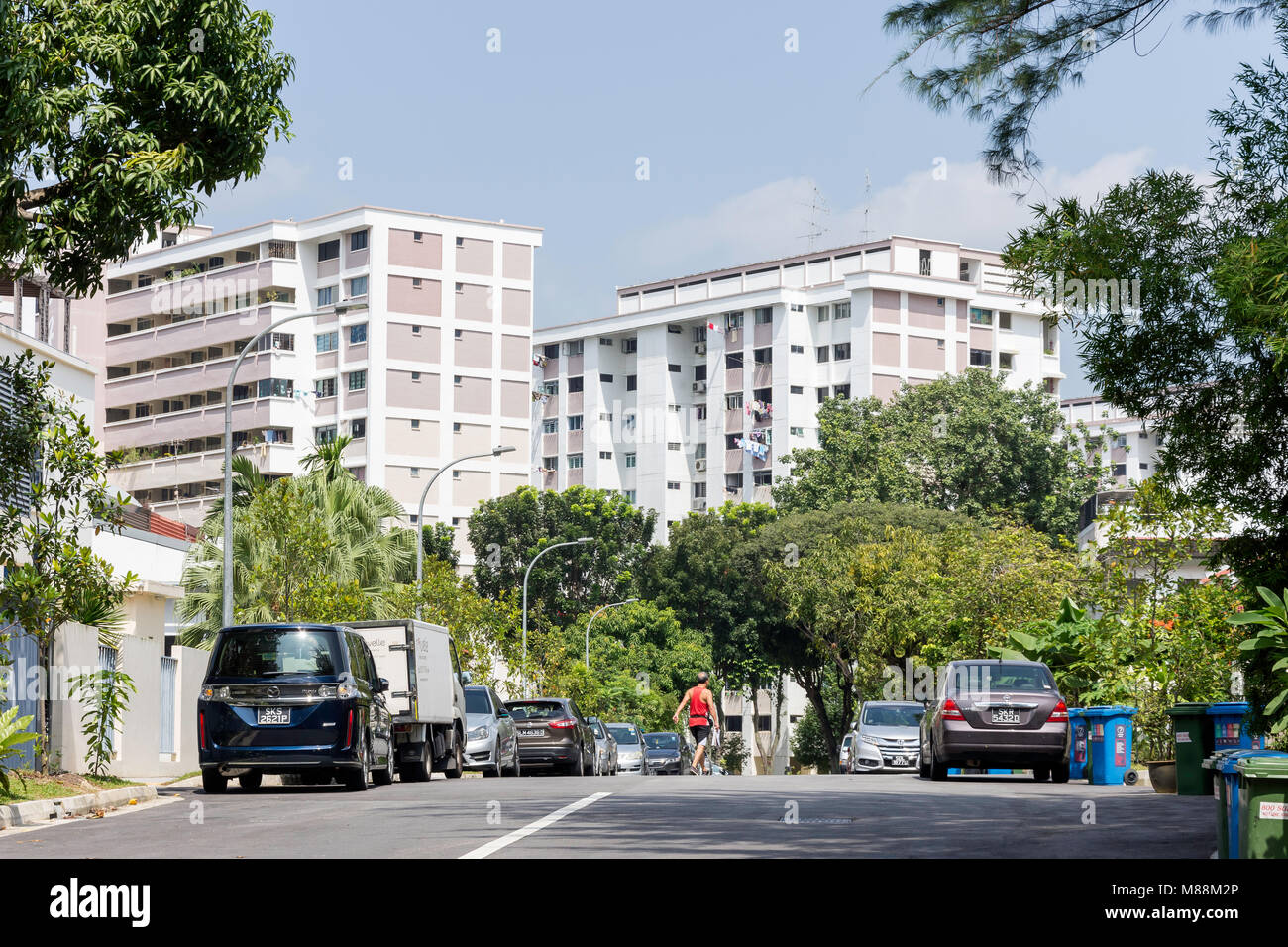 Residental high-rise apartments, Serangoon, North-East Region, Singapore - Stock Image