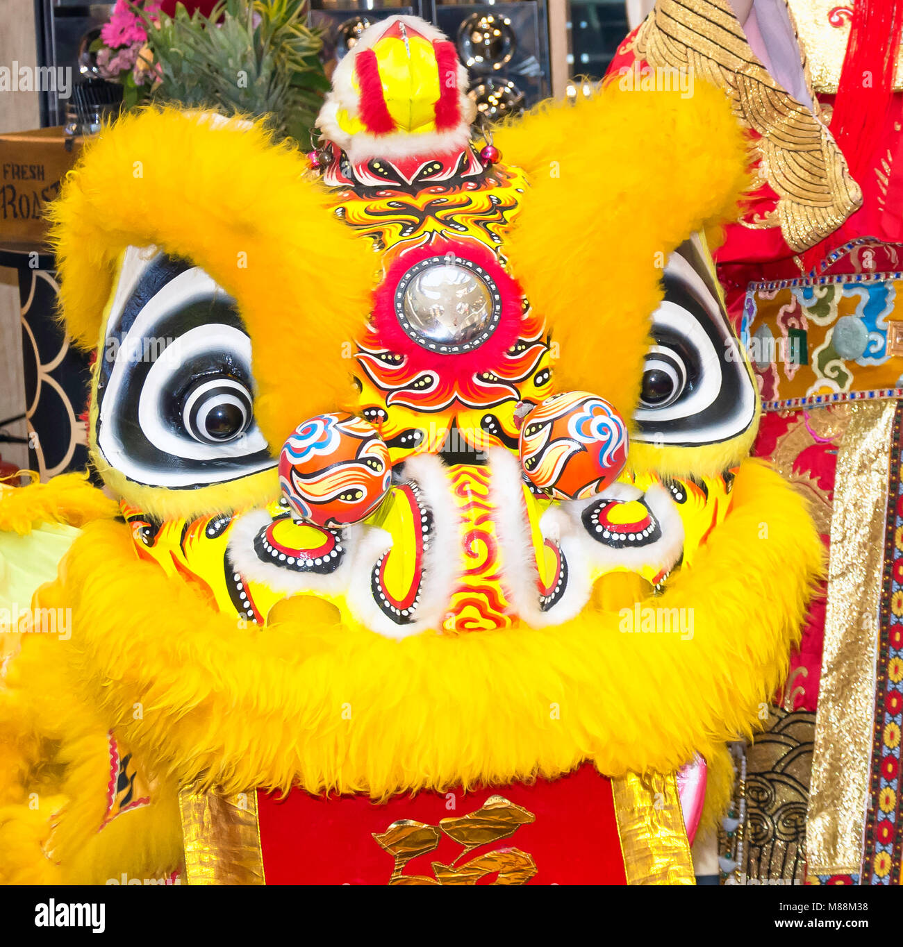 Chinese New Year celebrations, Raffles Place, Downtown Core, Central Area, Singapore Island (Pulau Ujong), Singapore - Stock Image