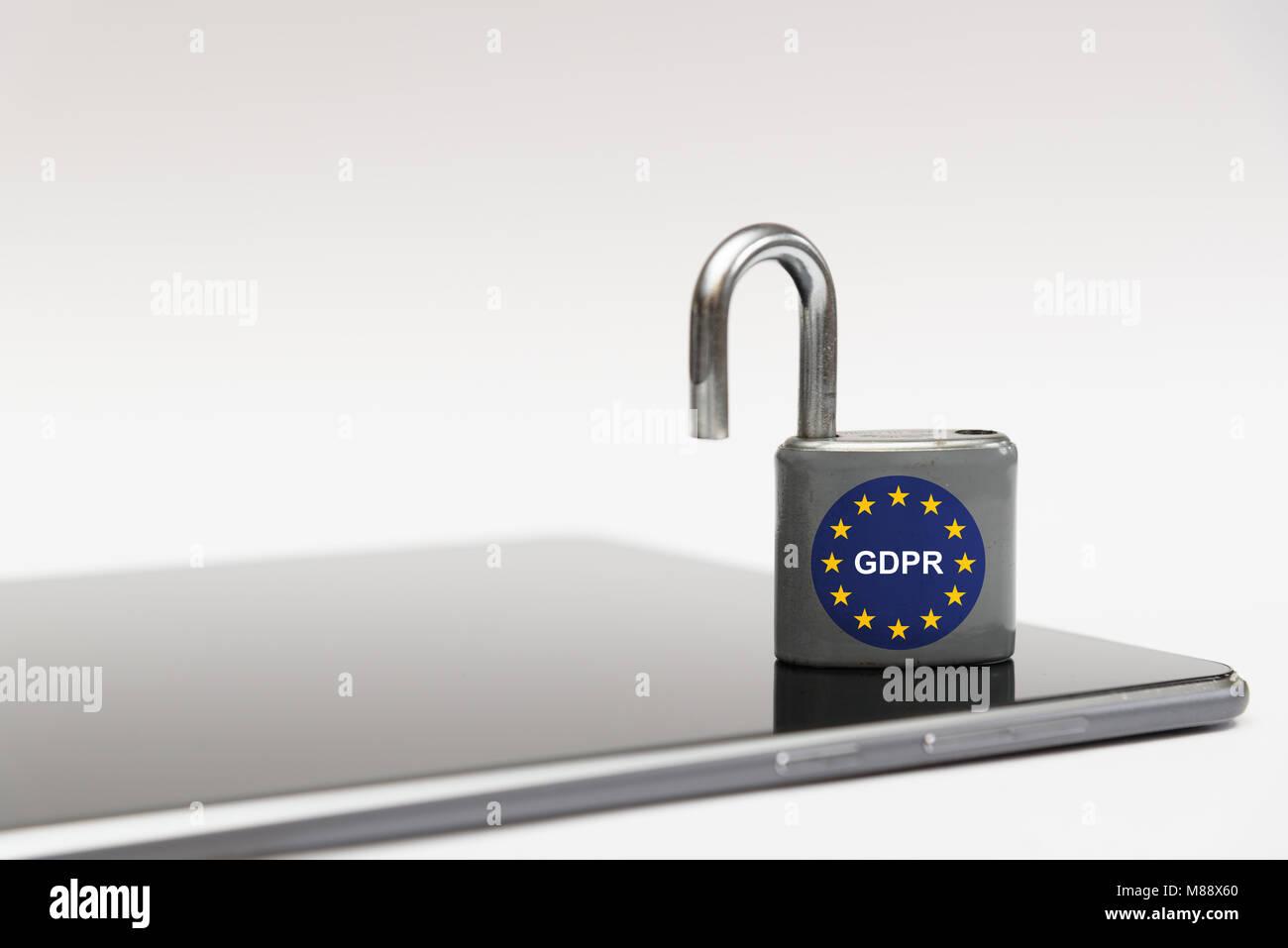 General Data Protection Regulation (GDPR) - Stock Image