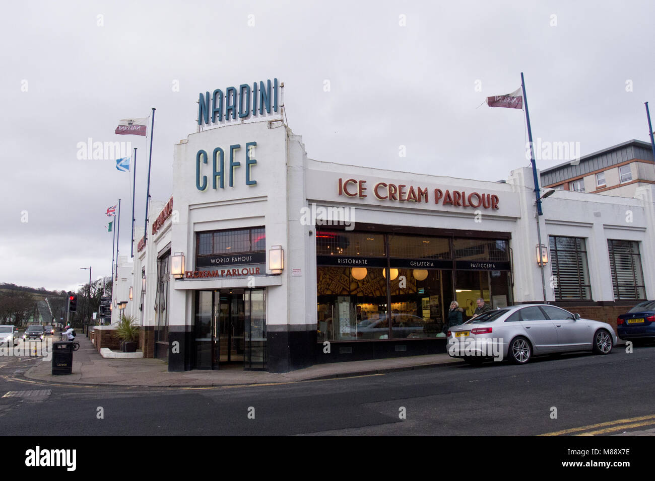 Nardinis Cafe and Ice Cream Parlour, Largs, Scotland - Stock Image