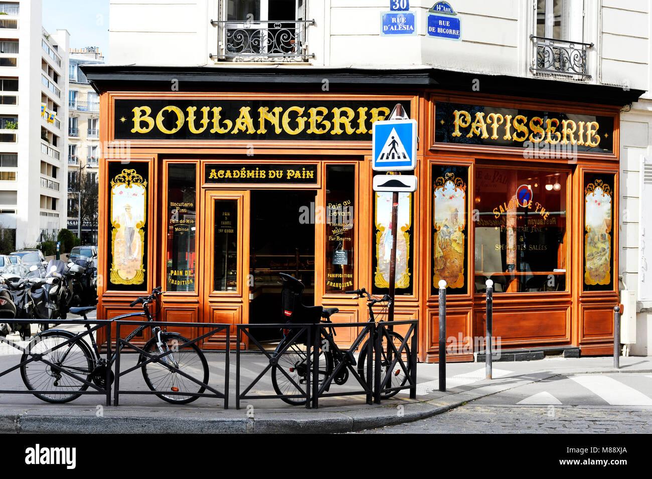 Boulangerie pâtisserie, Paris 14th, France Stock Photo: 177217442 - Alamy