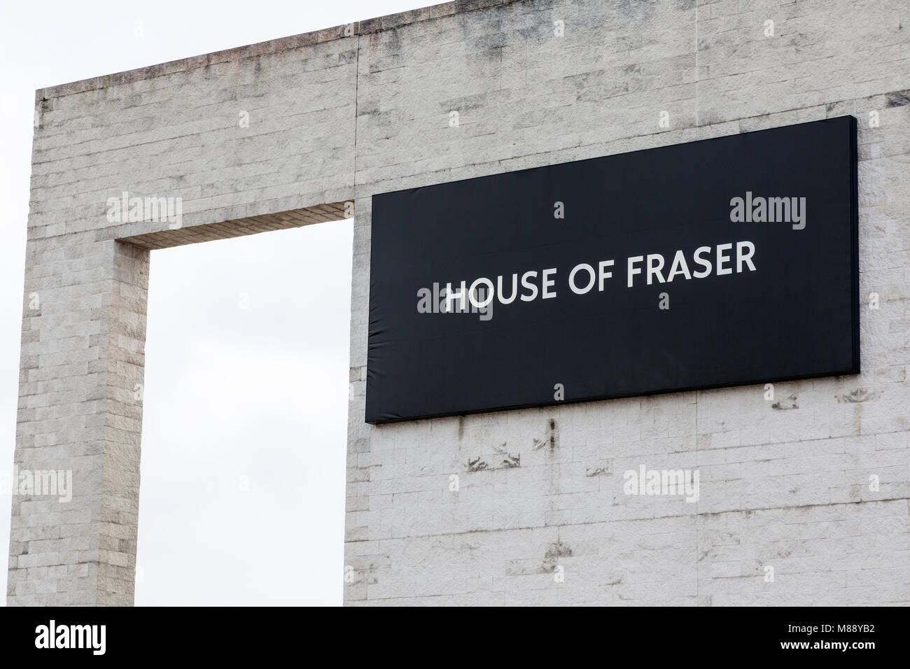 The House Of Fraser Department Store in  Telford, Shropshire, England. - Stock Image