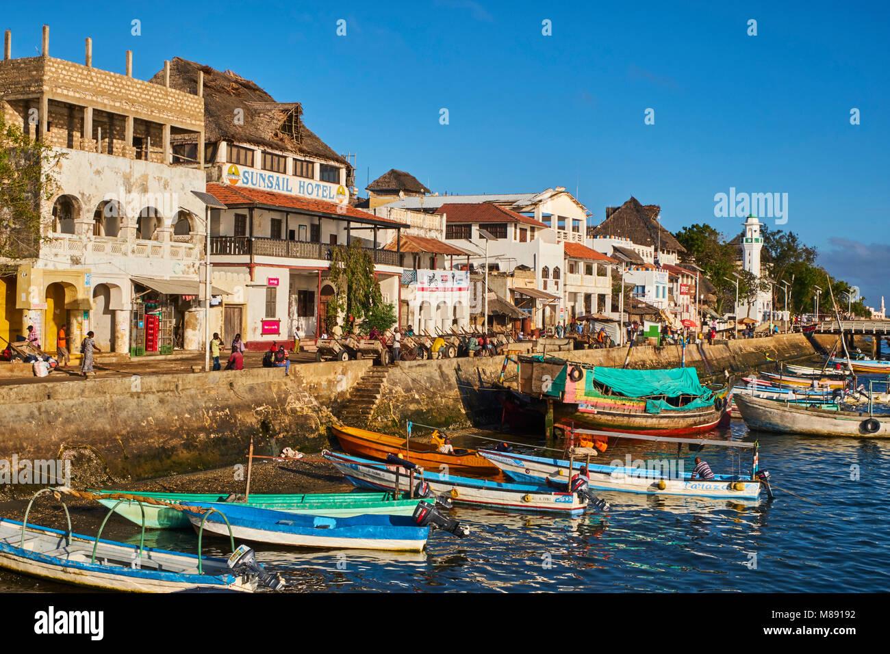 Kenya, Lamu island, Lamu town, Unesco world heritage Stock Photo