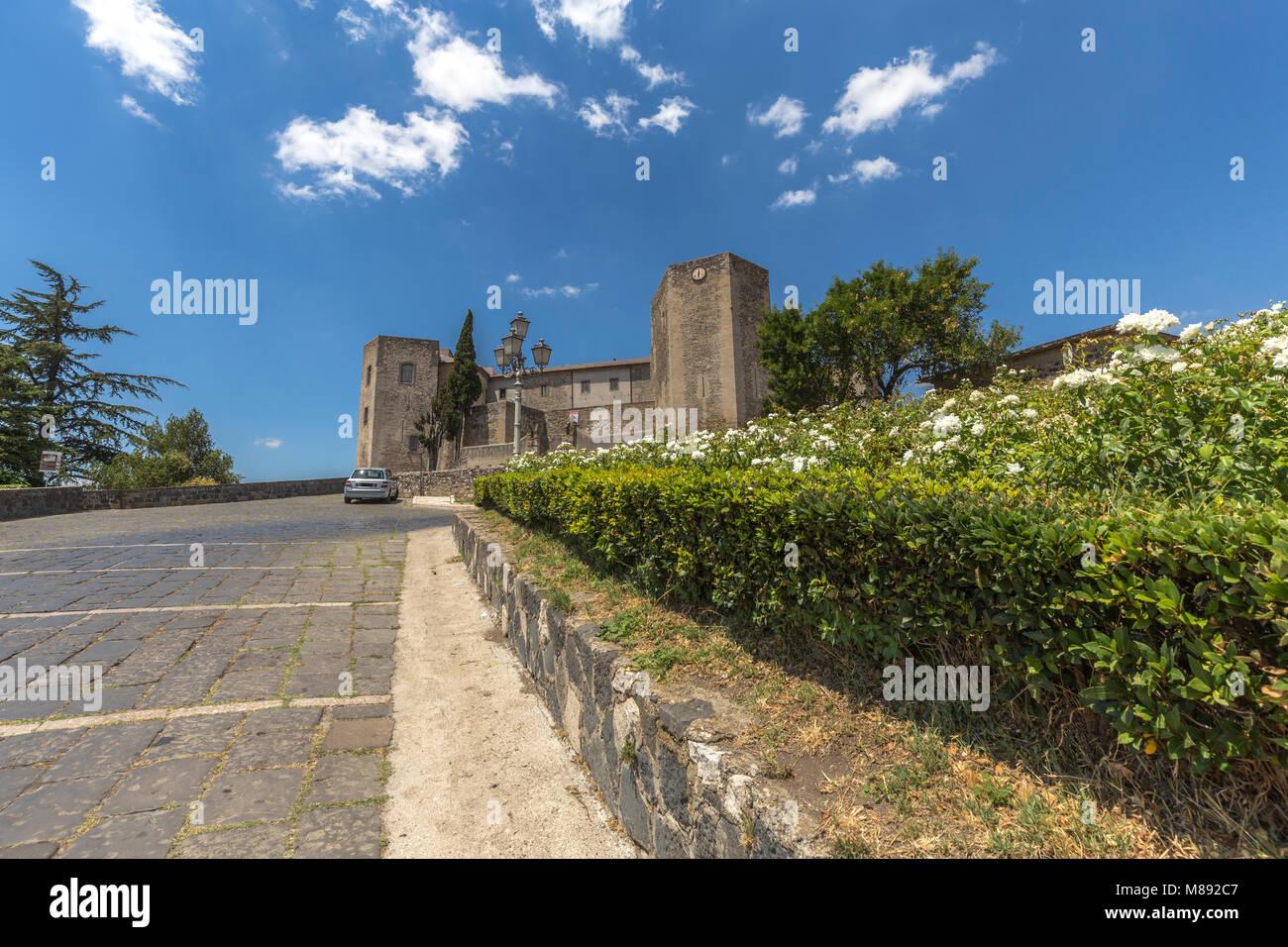 Norman Castle of Melfi village, Potenza district, Lucania, Basilicata, Italy Stock Photo