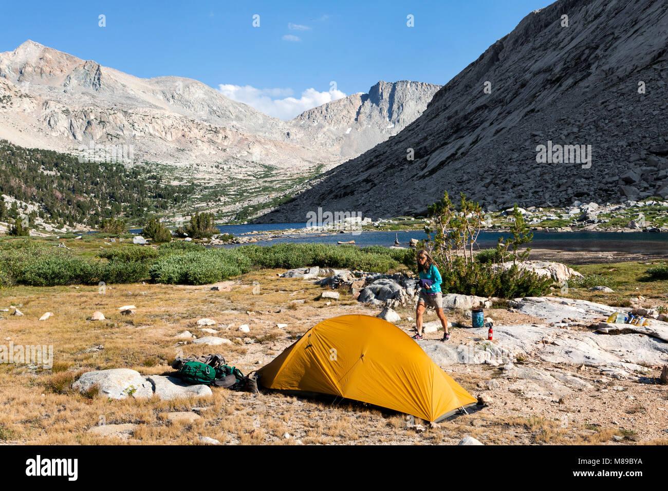 CA03312-00...CALIFORNIA - Campsite at Palisade Lakes in Kings Canyon National Park along the John Muir Trail. - Stock Image