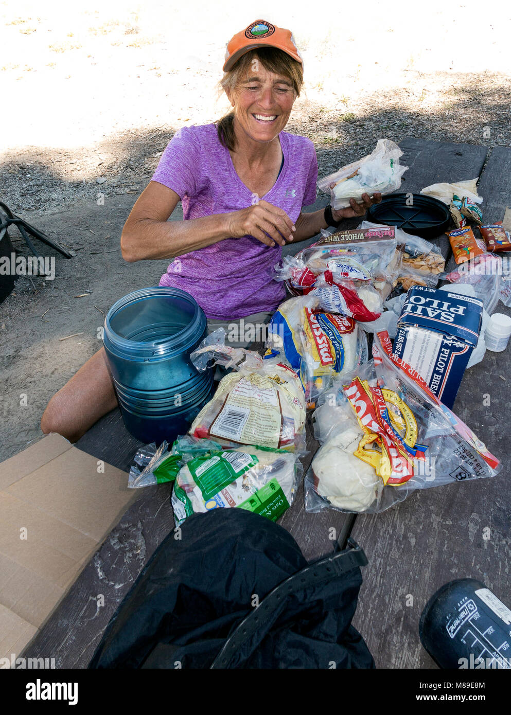CA03358-00...CALIFORNIA - Food resuply along the John Muir Trail at Reds Meadows in Devils Post Pile National Monument - Stock Image