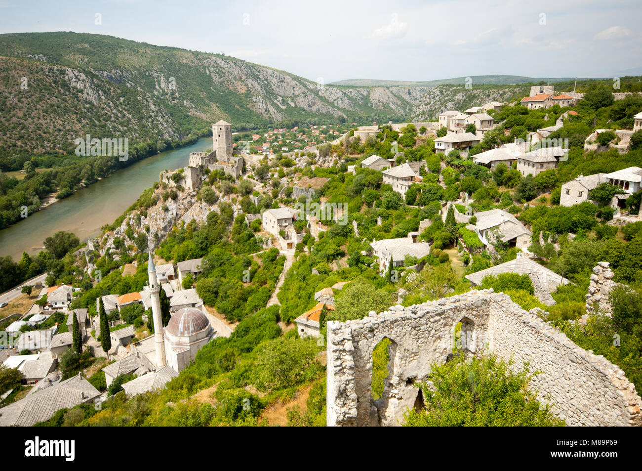Old town of Pocitelj, Bosnia and Herzegovina - Stock Image