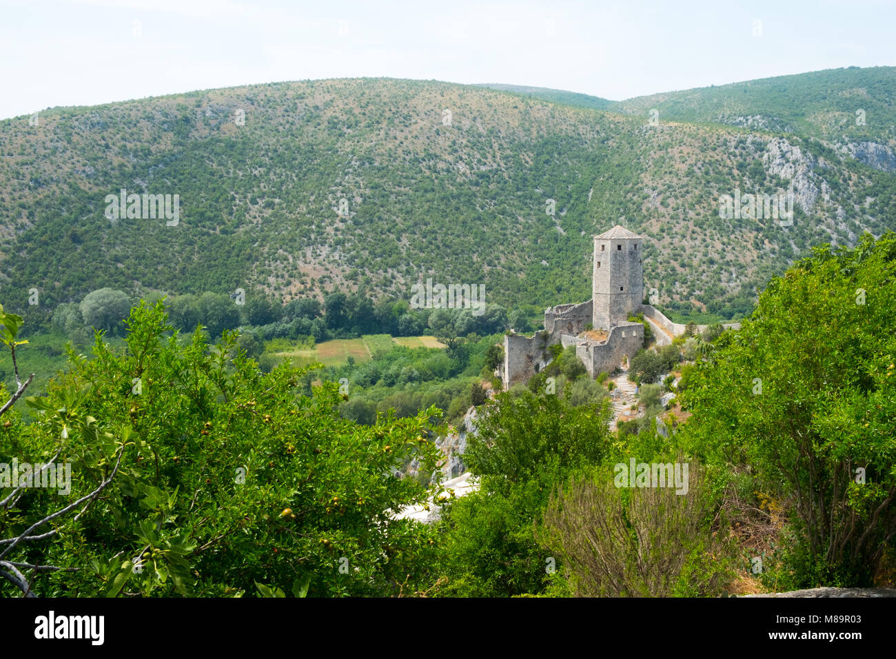 Old town of Pocitelj, Bosnia and Herzegovina - Stock Image