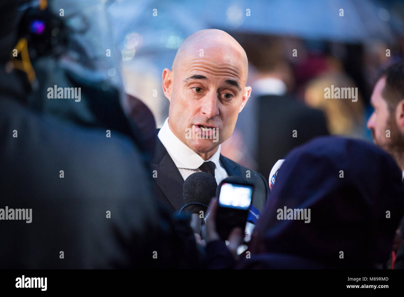 London, UK, 8th October 2014, Mark Strong , 'The Imitation Game' opening night gala of BFI London Film Festival. - Stock Image