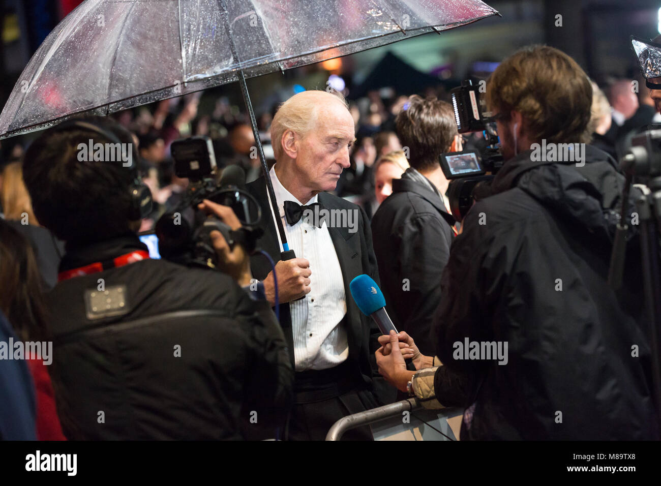 London, UK, 8th October 2014, Charles Dance , 'The Imitation Game' opening night gala of BFI London Film - Stock Image
