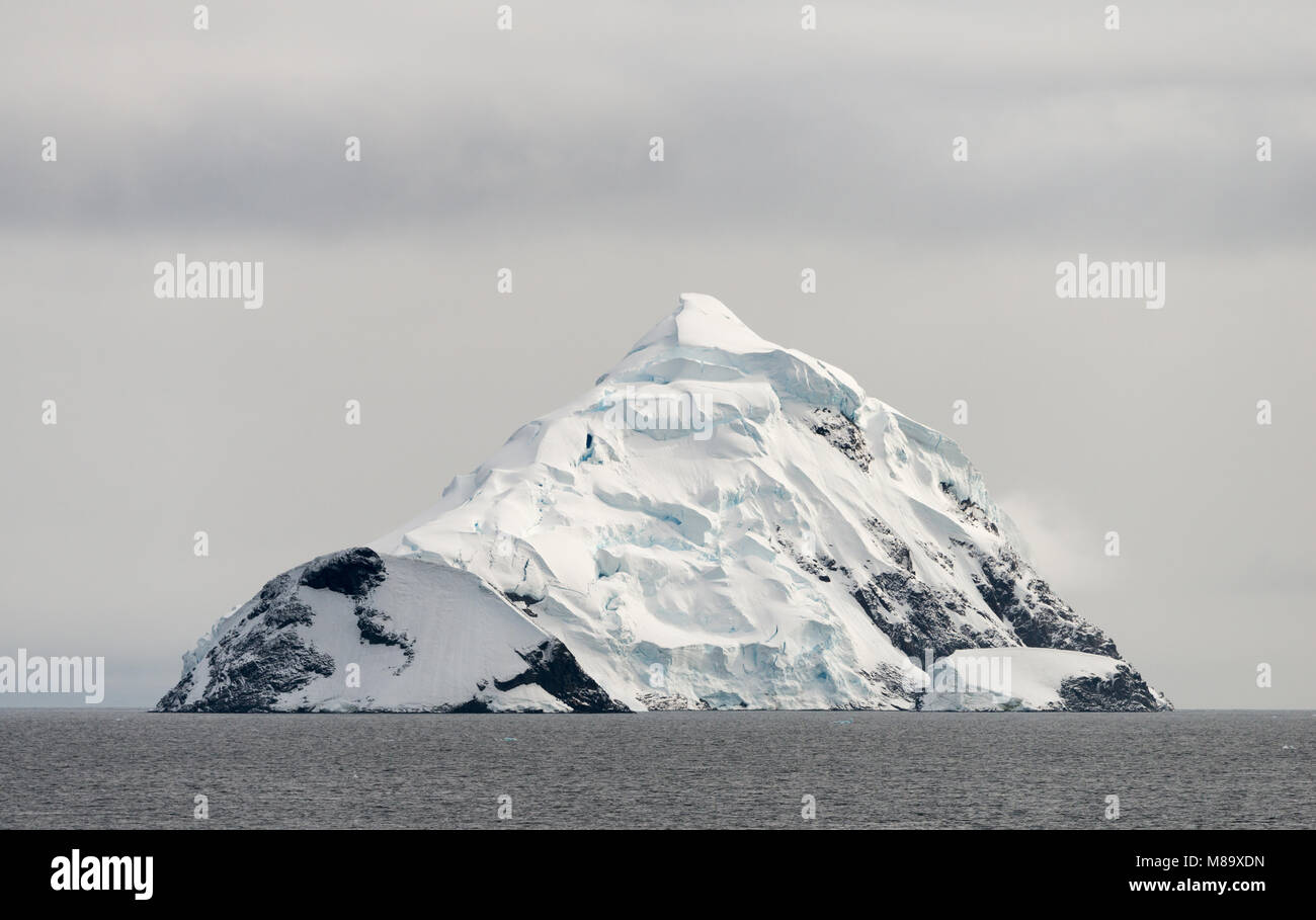 A beautiful snowy landscape in a fantastic scene from Antarctica Stock Photo