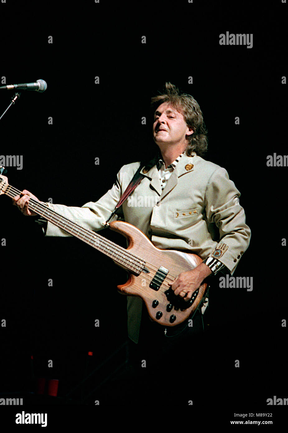 Washington DC USA July 4 1990 Paul McCartney Performs At The Fourth Of Concert In Robert F Kennedy Football Stadium Credit Mark Reinstein