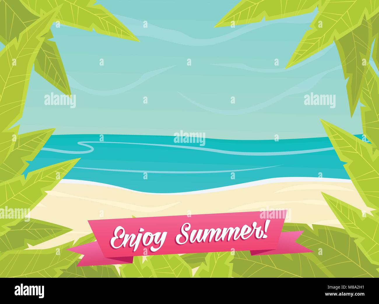 Summer or spring time background - Stock Vector