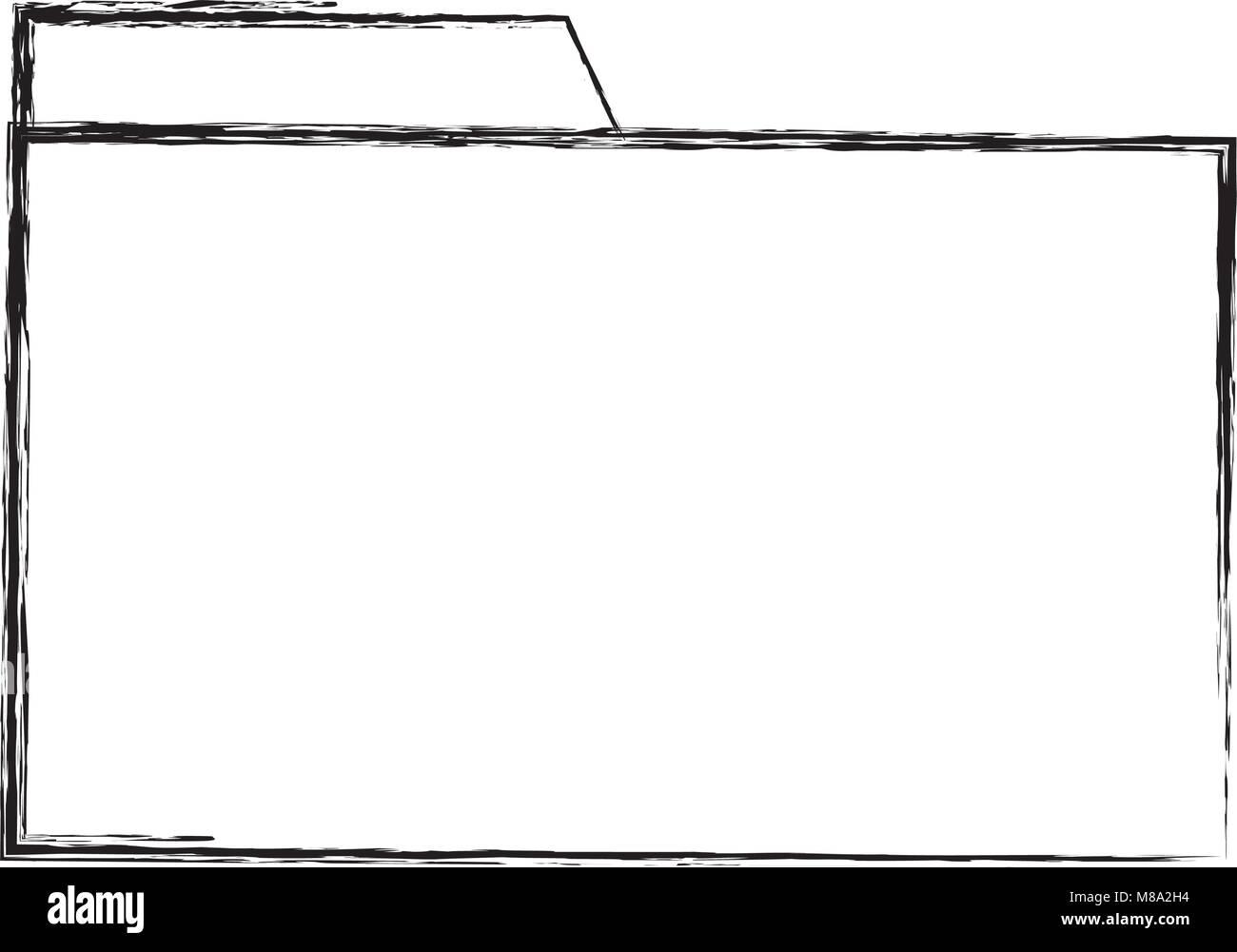 grunge file folder archive to organize information - Stock Image