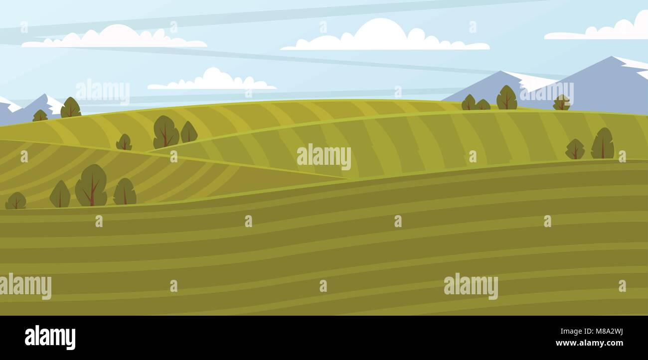 Farm field, vector illustration - Stock Vector